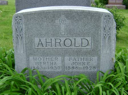 AHROLD, BERTHA - Polk County, Iowa | BERTHA AHROLD