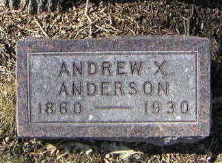 ANDERSON, ANDREW X. - Polk County, Iowa | ANDREW X. ANDERSON