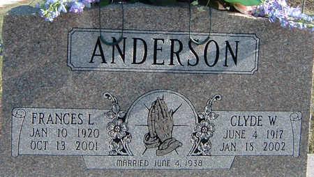 ANDERSON, FRANCES - Polk County, Iowa   FRANCES ANDERSON