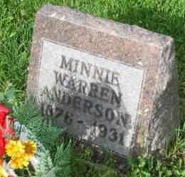 WARREN ANDERSON, MINNIE - Polk County, Iowa | MINNIE WARREN ANDERSON