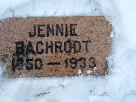 BACHROOT, JENNIE - Polk County, Iowa   JENNIE BACHROOT
