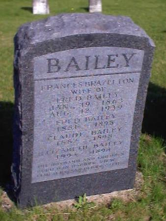 BRAZELTON BAILEY, FRANCES - Polk County, Iowa | FRANCES BRAZELTON BAILEY