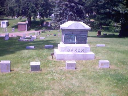 BAKER, MAIN STONE - Polk County, Iowa   MAIN STONE BAKER