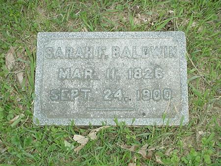 BALDWIN, SARAH F. - Polk County, Iowa   SARAH F. BALDWIN