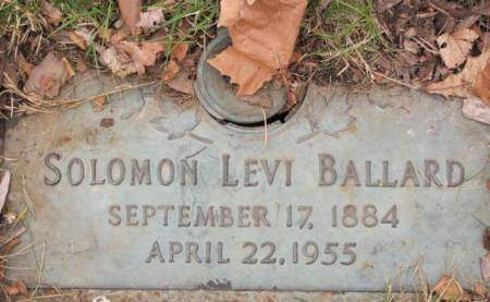 BALLARD, SOLOMON  LEVI - Polk County, Iowa   SOLOMON  LEVI BALLARD
