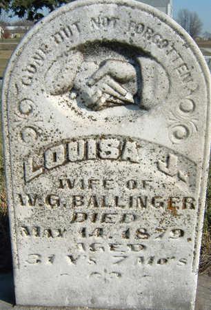 BALLINGER, LOUISA - Polk County, Iowa   LOUISA BALLINGER