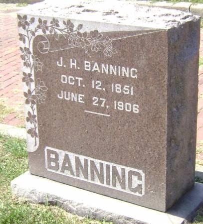BANNING, J. H. - Polk County, Iowa   J. H. BANNING
