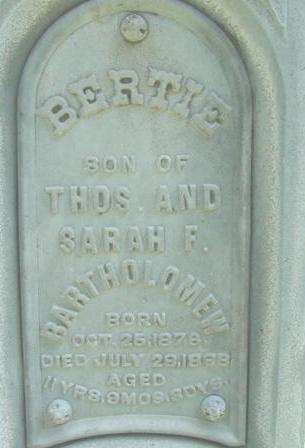 BARTHOLOMEW, BERTIE - Polk County, Iowa | BERTIE BARTHOLOMEW