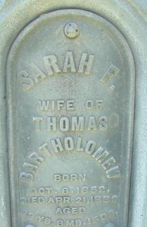 FIELDS BARTHOLOMEW, SARAH FRANCES - Polk County, Iowa | SARAH FRANCES FIELDS BARTHOLOMEW