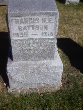 BATTSON, FRANCIS H. E. - Polk County, Iowa | FRANCIS H. E. BATTSON