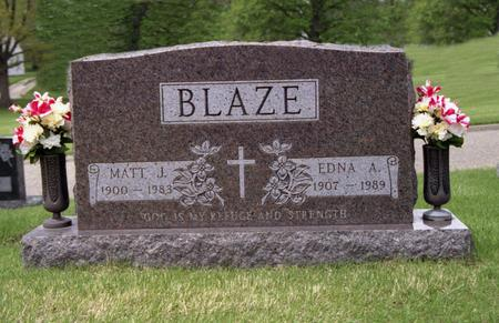 BLAZE, EDNA A. - Polk County, Iowa | EDNA A. BLAZE