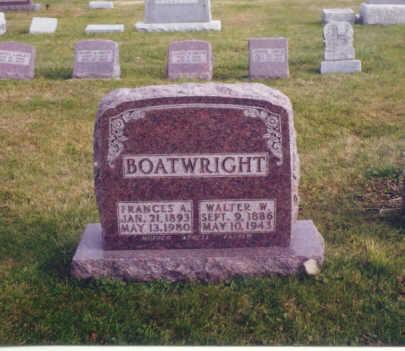 BOATWRIGHT, WALTER W. - Polk County, Iowa | WALTER W. BOATWRIGHT