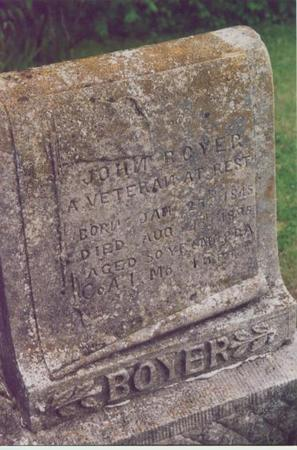 BOYER, JOHN - Polk County, Iowa | JOHN BOYER