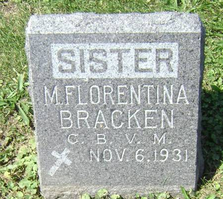 BRACKEN, SISTER MARY FLORENTINA - Polk County, Iowa | SISTER MARY FLORENTINA BRACKEN