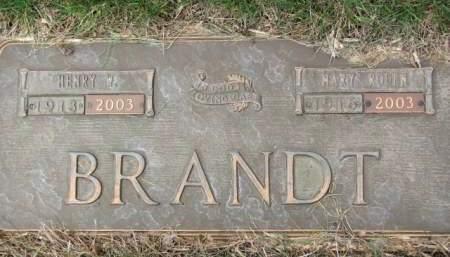 BRANDT, HENRY  W. - Polk County, Iowa   HENRY  W. BRANDT