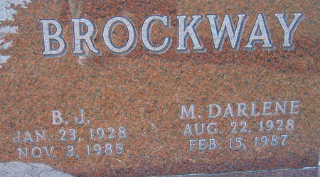 BROCKWAY, M. DARLENE - Polk County, Iowa | M. DARLENE BROCKWAY