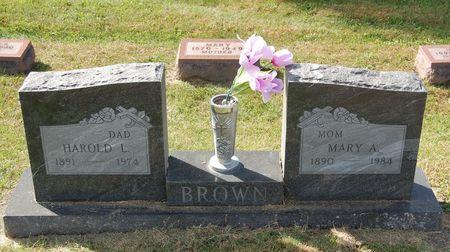 BROWN, MARY A. - Polk County, Iowa   MARY A. BROWN