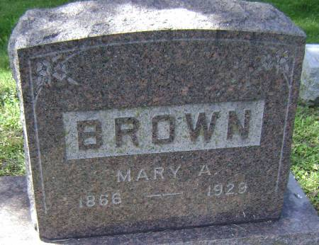 BROWN, MARY A - Polk County, Iowa | MARY A BROWN