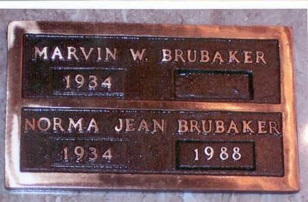 BRUBAKER, NORMA JEAN - Polk County, Iowa   NORMA JEAN BRUBAKER
