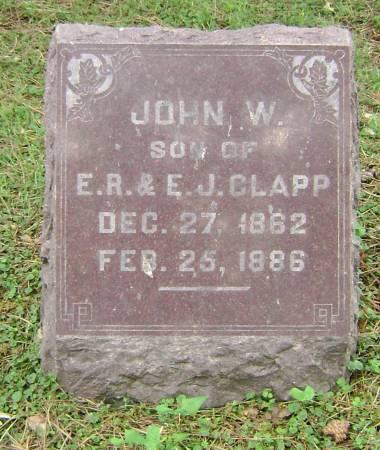 CLAPP, JOHN W - Polk County, Iowa | JOHN W CLAPP