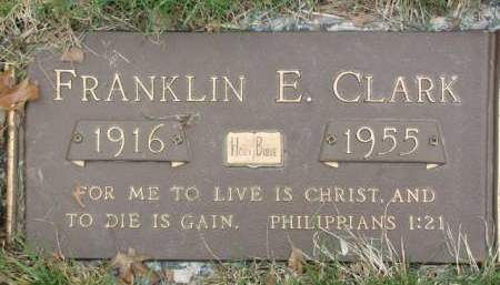CLARK, FRANKLIN  E. - Polk County, Iowa | FRANKLIN  E. CLARK