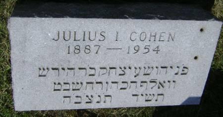 COHEN, JULIUS I - Polk County, Iowa | JULIUS I COHEN