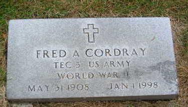 CORDRAY, FRED A. - Polk County, Iowa | FRED A. CORDRAY