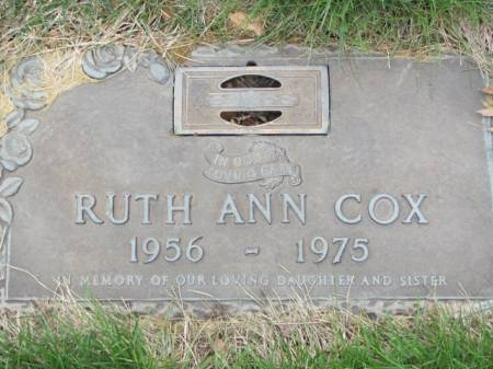 COX, RUTH  ANN - Polk County, Iowa   RUTH  ANN COX