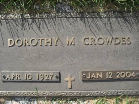 CROWDES, DOROTHY M - Polk County, Iowa | DOROTHY M CROWDES