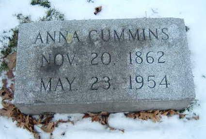 CUMMINS, ANNA - Polk County, Iowa   ANNA CUMMINS