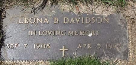 DAVIDSON, LEONA  B. - Polk County, Iowa | LEONA  B. DAVIDSON