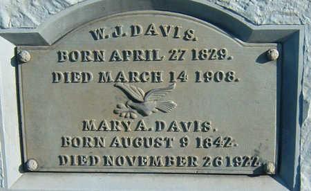 DAVIS, W. J. - Polk County, Iowa | W. J. DAVIS