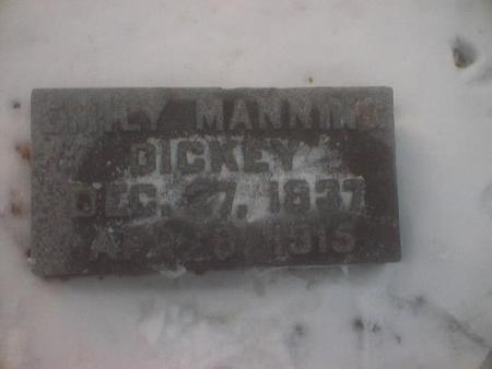 DICKEY, EMILY MANNING - Polk County, Iowa   EMILY MANNING DICKEY
