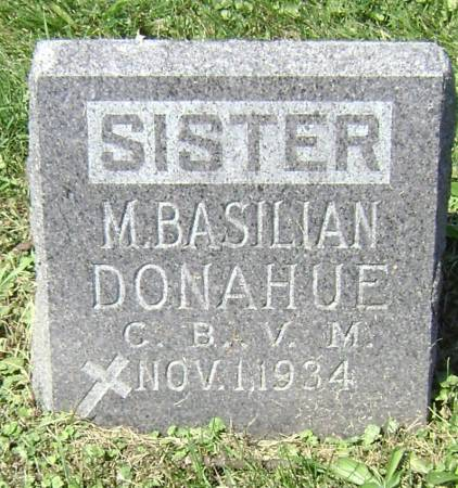 DONAHUE, SISTER MARY BASILIAN - Polk County, Iowa | SISTER MARY BASILIAN DONAHUE