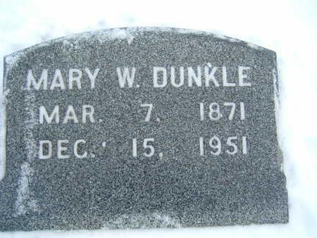 DUNKLE, MARY W. - Polk County, Iowa | MARY W. DUNKLE