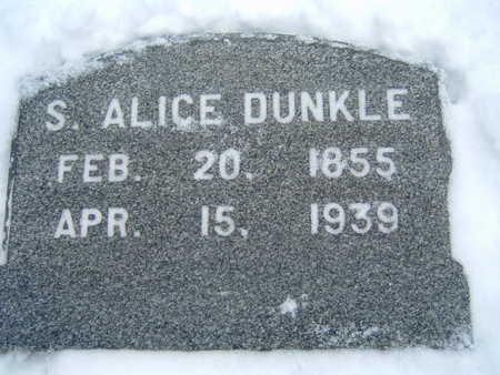 DUNKLE, S. ALICE - Polk County, Iowa | S. ALICE DUNKLE