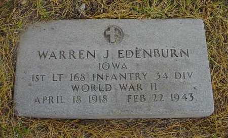 EDENBURN, WARREN J. - Polk County, Iowa   WARREN J. EDENBURN