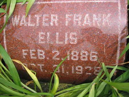 ELLIS, WALTER FRANK - Polk County, Iowa   WALTER FRANK ELLIS