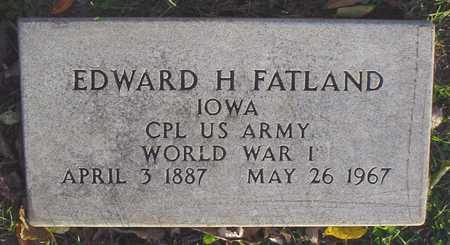 FATLAND, EDWARD H. - Polk County, Iowa | EDWARD H. FATLAND