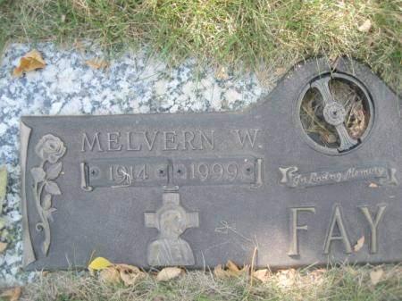 FAY, MELVERN W - Polk County, Iowa | MELVERN W FAY