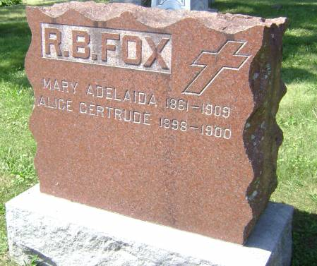FOX, ALICE GERTRUDE - Polk County, Iowa | ALICE GERTRUDE FOX