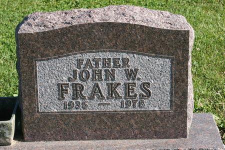 FRAKES, JOHN  W. - Polk County, Iowa   JOHN  W. FRAKES