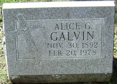 GALVIN, ALICE G - Polk County, Iowa | ALICE G GALVIN