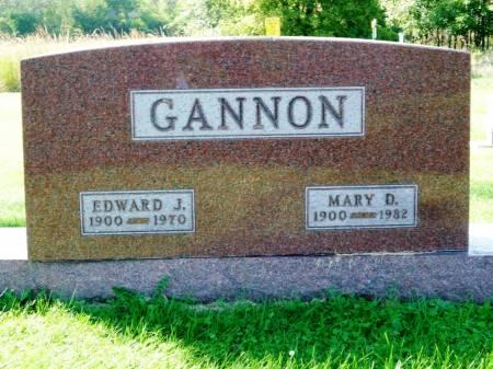 GANNON, EDWARD J. - Polk County, Iowa   EDWARD J. GANNON