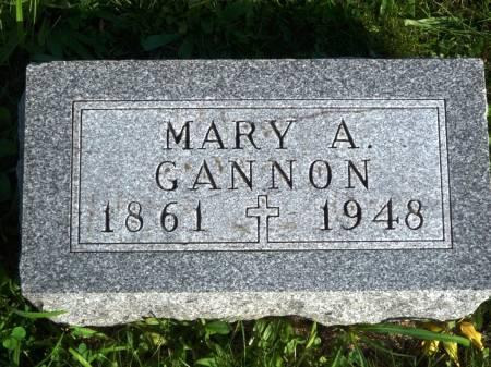 GANNON, MARY A. - Polk County, Iowa   MARY A. GANNON