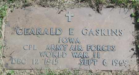 GASKINS, GEARALD E. - Polk County, Iowa | GEARALD E. GASKINS