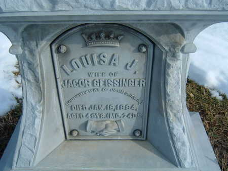 GEISSINGER, LOUISA J. - Polk County, Iowa | LOUISA J. GEISSINGER