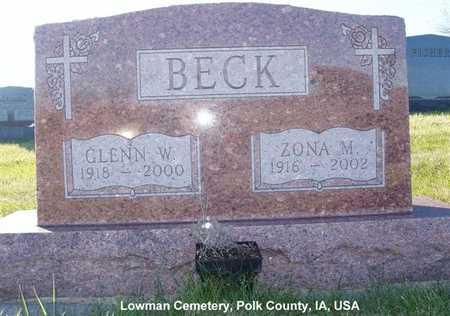 BECK, ZONA M. - Polk County, Iowa | ZONA M. BECK