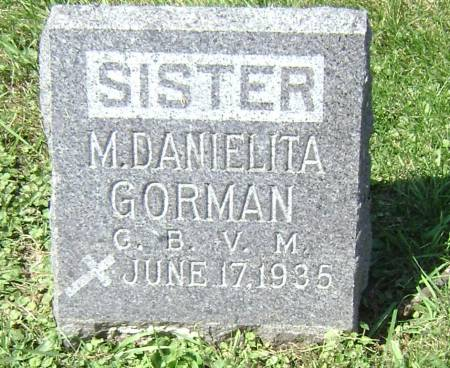 GORMAN, SISTER M. DANIELITA - Polk County, Iowa | SISTER M. DANIELITA GORMAN