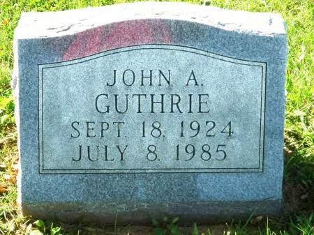 GUTHRIE, JOHN A. - Polk County, Iowa | JOHN A. GUTHRIE